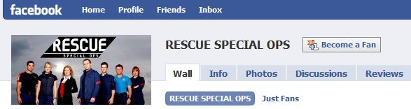 Rescue Special Ops Facebook Fan Page Screenshot
